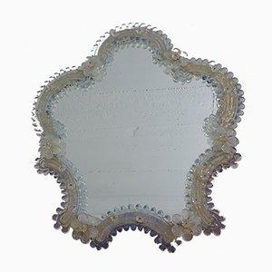 Espejo italiano de cristal de Murano, años 60