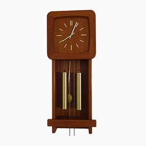 Teak Wall Clock from Danclock, 1960s