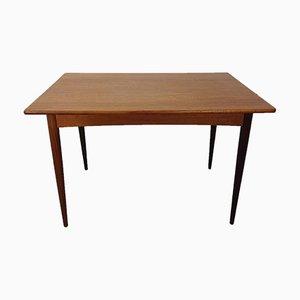 Mesa de comedor danesa de teca, años 60