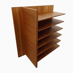 Danish Teak Magazine or Vinyl Rack, 1960s