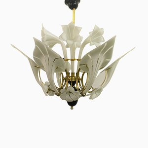 Murano Glass Flower Chandelier, 1960s