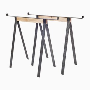 F56 Blackened Steel Trestles from FRAMA, Set of 2