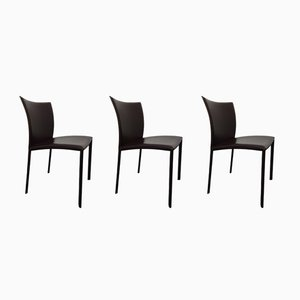 Leather Dining Chairs by Gino Carollo for DRAENERT, 2007, Set of 3