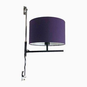 Lámpara de metal minimalista regulable, años 60