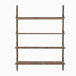 Dark Oak Shelf Library Single Section by Kim Richardt for FRAMA
