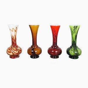 Italienische Pop Art Vintage Vasen von Opaline Florence, 1970er, 4er Set
