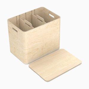Mobiletto modulare per la raccolta differenziata Ecosmol di Harri Koskinen per Niimaar