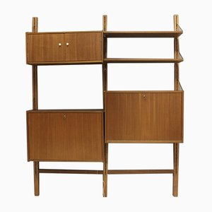 Mid-Century Wall Unit with Secretaire and Bar