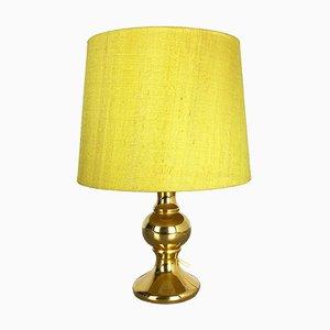 Lámpara de mesa de vidrio dorado de Uno & Östen Kristiansson para Luxus, años 70