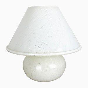 Lámpara de mesa Mushroom de vidrio de Limburg, años 70