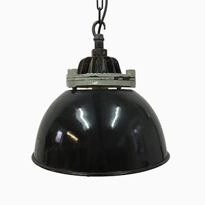 Black Industrial Pendant Light from Revo, 1950s