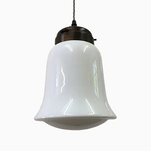 English Opaline Pendant Light, 1950