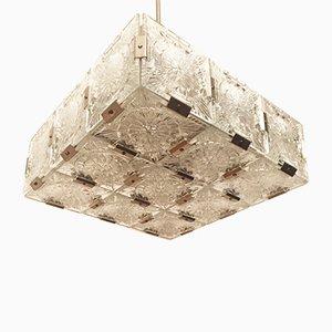 Lampada da soffitto cubica di Kamenický Šenov, anni '60