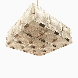 Würfelförmige Deckenlampe von Kamenický Šenov, 1960er