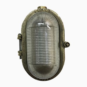Lacent Brass Bulkhead Wall Light from Heyes & Co Wigan, 1950s