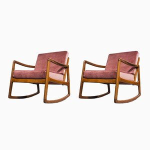Rocking Chairs Senator en Teck par Ole Wanscher pour France & Daverkosen, 1951, Set de 2
