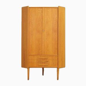 Vintage Danish Ash Corner Cabinet
