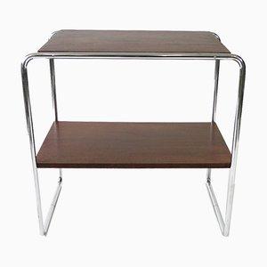 Tavolino B12 vintage in acciaio tubolare di Marcel Breuer