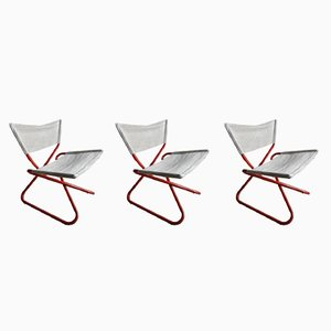 Vintage Z-Down Lounge Chairs by Erik Magnussen, Set of 3