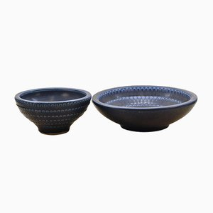 Ceramic Bowls by Wilhelm Kåge for Gustavsberg, 1950s, Set of 2