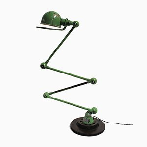 Vintage Industrial Articulated Floor Lamp by Jean-Louis Domecq for Jieldé, 1950s