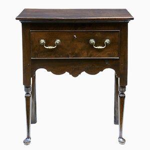 Mesa auxiliar pequeña de madera de tejo del siglo XVIII