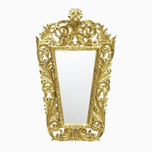 18th Century Italian Carved Gilt Wood Mirror