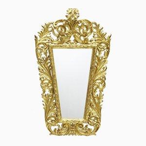 18th Century Italian Carved Gilt Wood Mirror