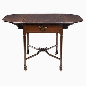 Table Pembroke Chippendale du 18ème Siècle en Acajou