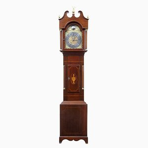Antike Standuhr aus Mahagoni mit Intarsien von William Underwood of London