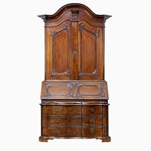 18th Century Norwegian Carved Oak Bureau