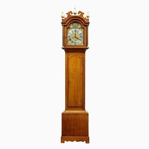 Reloj de caja alta de roble de James Draycot Wells, siglo XVIII