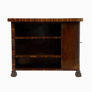 Birch & Rosewood Small Writing Table Desk, 1920s