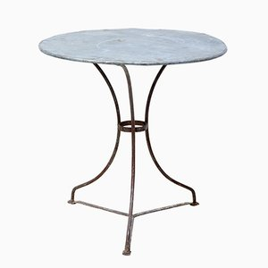 Round Metal Bistro Table, 1920s