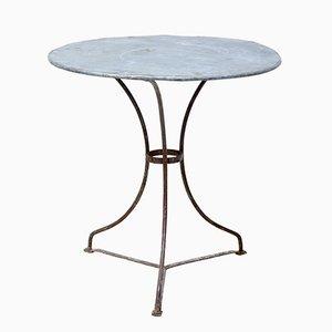 Mesa de bistró redonda de metal, años 20