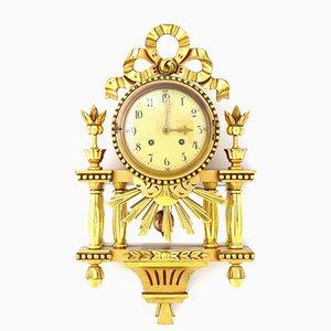 Orologio da parete dorato di Westerstrand, Svezia, anni '40