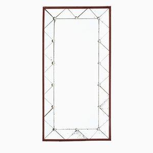 Mid-Century Teak Framed Wall Mirror