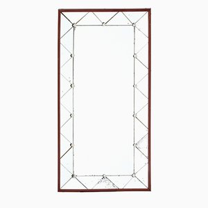 Mid-Century Teak Framed Wall Mirror