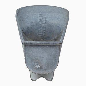 Cache-Pot en Étain Galvanisé, 1950s