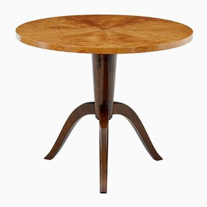 Vintage Swedish Birch Occasional Table, 1950s
