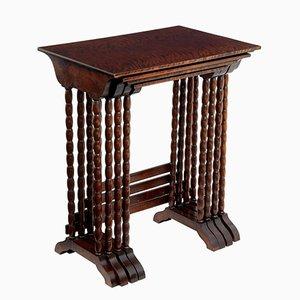 Tavolini ad incastro in betulla, anni '50