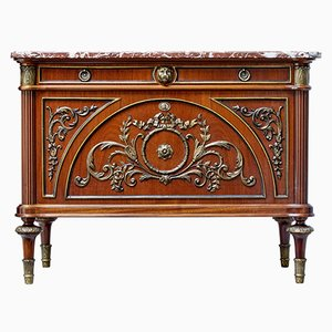 Louis XVI Style Marble Top Commode, 1960s