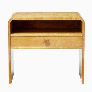 Scandinavian Shaped Birch Bedside Table, 1960s