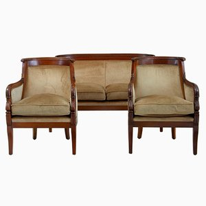 Empire Style 3 Piece Mahogany Suite, 1970s