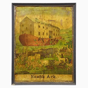 Póster del Arca de Noé americano de Haasis & Lubrecht del siglo XIX