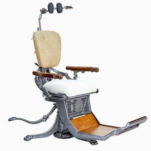 Antiker amerikanischer Zahnarztstuhl aus Gusseisen