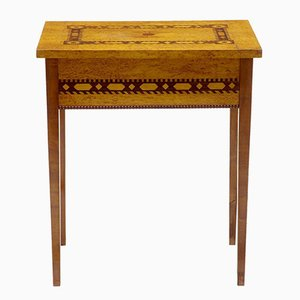 Antique Sewing Side Table