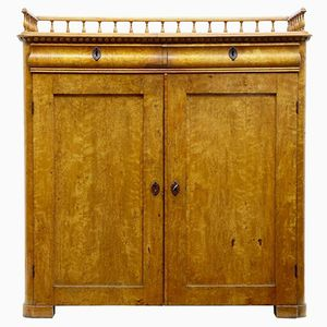 19th-Century Burr Birch Cupboard