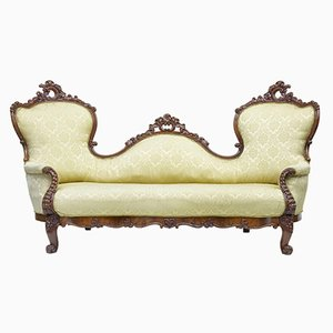 Antique Carved Mahogany Victorian Sofa