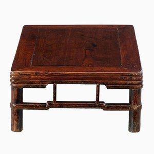 Niedriger chinesischer Tisch aus Ulmenholz, 19. Jh.